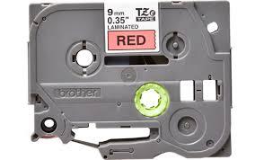 <b>Плёнка для наклеек Brother</b> TZE-421 чёрный шрифт на красной ...