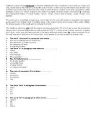 English teaching worksheets: Multiple choiceEnglish Worksheets: Reading comprehension+multiple choice questions