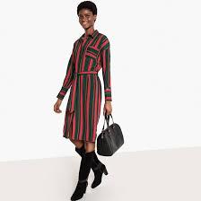 <b>Платье</b>-<b>рубашка</b> из <b>струящейся</b> ткани с завязкой на поясе <b>La</b> ...