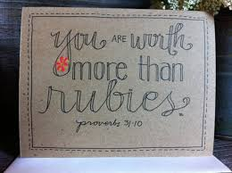 Image result for verse worth more than rubies