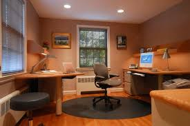 extraordinary design ideas of office interior with white blue wall mesmerizing brown cream colors mounted tables blue brown home office