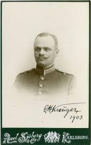 porträtt av carl henrik erik magnus henning kreüger löjtnant vid porträtt av carl henrik erik magnus henning kreüger löjtnant vid kronobergs regemente i 11