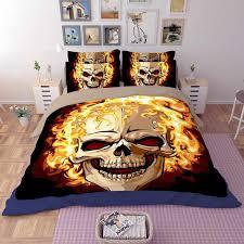 <b>Gothic Skull pattern</b> printed bedding set Duvet Cover Set Queen ...
