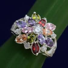 Women's Fashion Jewelry Sweet <b>Multi-color Crystal Rhinestone</b> ...