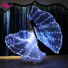 Ruoru 382 Pieces Leds Split Led Isis Wings <b>Women Belly Dance</b> ...