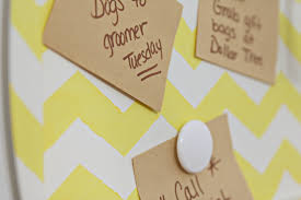 diy chevron magnetic memo board crafting dollar tree shop cute and functional