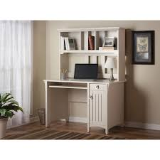 bush salinas mission desk hutch in antique white finish home furniture home office furniture desks hutches bush desk hutch office