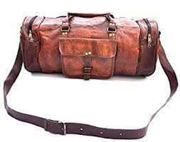 Pranjals House <b>Genuine Leather</b> 22 inch <b>Vintage Unisex</b> Duffle ...
