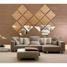 6 <b>Pcs Mirror</b> Wall Stickers Self Adhesive Acrylic <b>Mirror Tiles</b> for ...