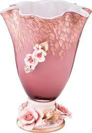 <b>Ваза Lefard</b> Флорентина, 183-121, <b>розовый</b>, 19 х 19 х 25,5 см