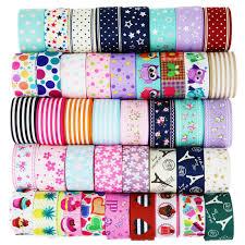 (6 Ribbon <b>Mix</b>) <b>grosgrain ribbon</b> printed lovely floral lace fabric satin ...