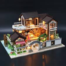 Good Gift <b>Girls</b> Boys Handmade House DIY <b>3D stereo</b> assembled ...