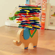 <b>Baby Toys Educational</b> Elephant <b>Camel</b> Balancing Blocks Wooden ...