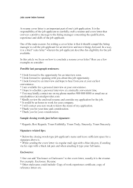 employment cover letter outline