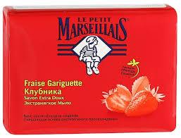 <b>Мыло</b> кусковое Le Petit Marseillais <b>Экстрамягкое Клубника</b>, <b>90 г</b>