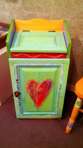 carolyns funky furniture painted trash bin cabinet carolyn funky furniture