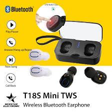 <b>T18S Mini TWS Wireless</b> Bluetooth Earphone In-Ear Earbuds with ...
