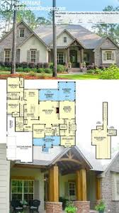 ideas about Rustic House Plans on Pinterest   Rustic Houses    Architectural Designs Craftsman House Plan HZ has a rustic exterior of stone and wood  and