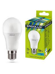 Светодиодная <b>лампочка</b> LED <b>17W</b> 4500К <b>E27 Ergolux</b> 10044222 в ...