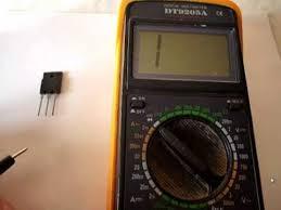 Как проверить транзистор мультиметром - YouTube