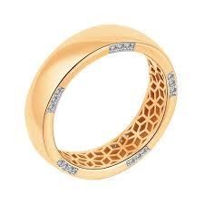 <b>Кольцо</b> из красного <b>золота</b> с бриллиантами