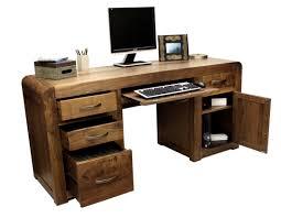 shiro walnut twin pedestal computer desk solid walnut hidden home office baumhaus hidden home office 2 door cabinet