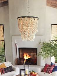 pottery barn amelia wood bead chandelier chandelier barn board