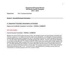 self study   sinclair community college departmentprogram review self study report template