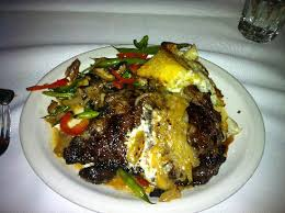 Ribeye <b>steak</b> topped with grilled onions - Picture of <b>Snake</b> Creek ...