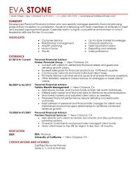 finance and resume finance internship resume