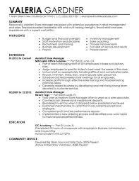 sample resume retail example resume for retail