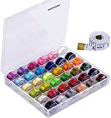 Paxcoo 36 Pcs Bobbins and Sewing Threads with ... - Amazon.com
