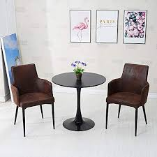 TUKAILAI <b>2PCS</b> Light Brown <b>Dining Chairs</b> Faux Leather Covered ...