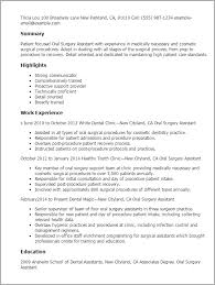professional oral surgery assistant templates to showcase your    resume templates  oral surgery assistant