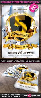 anniversary party flyer psd template psd templates preview anniversary party