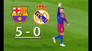 Barcelona vs Real Madrid (5-0) - YouTube