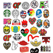 <b>100 Pcs Fashion</b> Brand Logo Stickers for - Buy Online in Gibraltar at ...