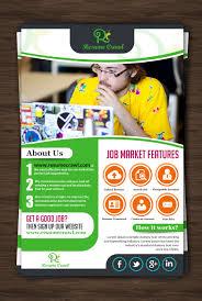 modern bold flyer design for xavier wells by hih design  flyer design by hih7 for revolutionary job search matching website needs flyer design
