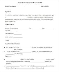 sample resume for assembly technician   cv writing servicessample resume for assembly technician assembly technician resume sample best format manufacturing resume template –
