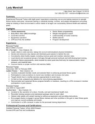 personal trainer resume sample   best template collectionpersonal trainer resume summary