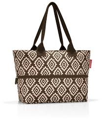 <b>Сумка reisenthel Shopper</b> E1 RJ6039 diamonds mocha, текстиль ...