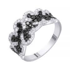 <b>Кольцо</b> из белого золота с <b>бриллиантами</b>