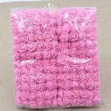 <b>72pcs</b>/<b>lot rose</b> flowers Lace <b>Rose</b> Foam <b>Flower</b> Bouquet Solid Color ...