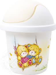 Купить Корзина для мусора <b>Little Angel</b> Bears <b>детская</b> в ...