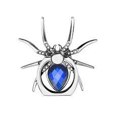 <b>Metal Spider Bling</b> Finger Ring <b>Holder</b> 360 Rotate Diamond Phone ...