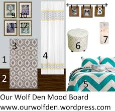 yellow and gray bedroom: teal and grey bedroom mood board grey teal and yellow bedroom our wolf den