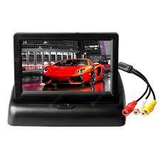 ZIQIAO 4.3 inch Foldable <b>Car</b> Monitor TFT <b>LCD Display</b> for <b>Car</b> ...