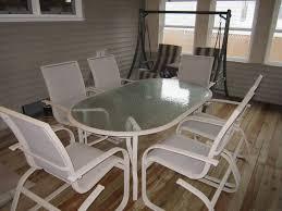 patio table and 6 chairs: patio table and  chairs in dewalts garage sale in ottawa il for
