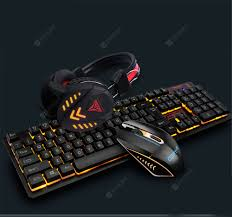 K59 Gaming Keyboard and Mouse and Headset Three Piece Set ...