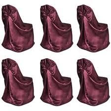 Shop vidaXL <b>6 pcs Burgundy Chair</b> Cover for Wedding Banquet ...